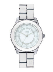 Storm Analog Watch for Women with Stainless Steel Band, Water Resistant, ST-47095/W, Silver-White