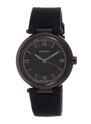 Nina Ricci Analog Watch for Women with Silicone Band, Water Resistant, N NR034.23.44.94, Black