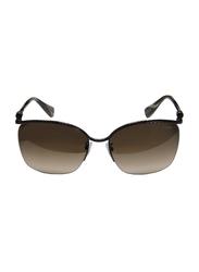 Lanvin Half Rim Square Sunglasses for Women, Gradient Brown Lens, SLN004S-58-K05, 58/17/135
