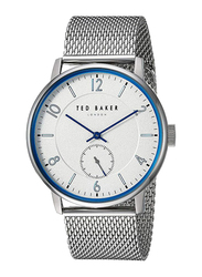 Ted Baker Analog Watch for Men with Metal Band, Water Resistant, TE50278001, Silver