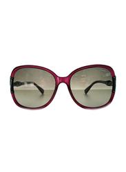 Lanvin Full Rim Butterfly Sunglasses for Women, Grey Lens, SLN508S-60-9PW, 60/17/130