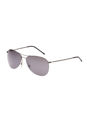 Maxima Polarized Full Rim Aviator Sunglasses Unisex, Black Lens, MX0003-C2, 59/15/145