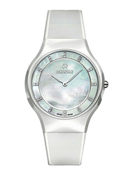 Roamer Ceraline Passion Analog Watch for Women with Rubber Band, Water Resistant, 683830 41 29 06, White-Silver