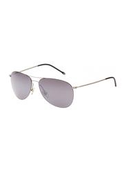 Maxima Polarized Full Rim Aviator Sunglasses Unisex, Grey Lens, MX0003-C3, 59/15/145