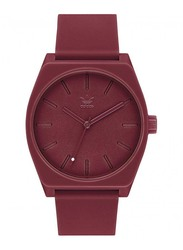 Adidas Process SP1 Analog Unisex Watch with Silicone Band, Water Resistant, Z10-2902-00, Burgundy