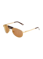 Maxima Full Rim Aviator Sunglasses for Men, Copper Brown Lens, MX0013-C4, 58/16