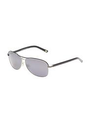 Maxima Full Rim Rectangular Sunglasses for Men, Gradient Black Lens, MX0015-C1, 61/11/135
