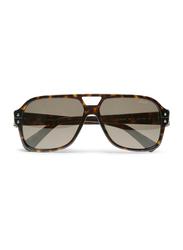 Lanvin Full Rim Pilot Sunglasses for Women, Brown Lens, SLN507-58-722, 58/13/140