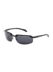 Oxygen Half Rim Sport Sunglasses for Men, Green Lens, OX8991-C4, 68/13/127