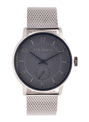 Ted Baker Analog Watch for Men with Stainless Steel Band, Water Resistant, TE50278002, Silver-Grey