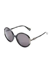 Lanvin Full Rim Round Sunglasses for Women, Grey Lens, SLN509S-57-Z42, 57/19/135