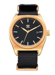 Adidas Analog Watch for Men with Fabric Band, Water Resistant, Z09-513-00, Black-Black/Gold