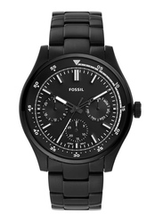 Fossil Analog Wrist Watch for Men with Stainless Steel Band, Water Resistant and Chronograph, FS5576, Black