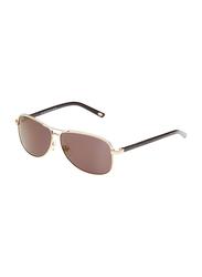 Maxima Full Rim Rectangular Sunglasses for Men, Brown Lens, MX0015-C4, 61/11/135