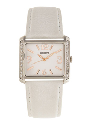 Orient Analog Watch for Women with Leather Band, SQCBD004W0, White