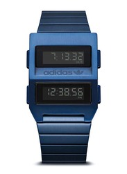 Adidas Digital Watch for Men with Stainless Steel Band, Water Resistant, Z20-605-00, Blue-Black