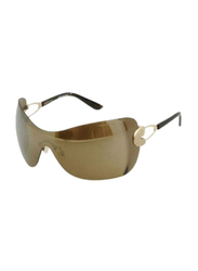 Gf Ferre Rimless Oval Sunglasses for Women, Brown Gold Lens, GF975-01, 55/18/115