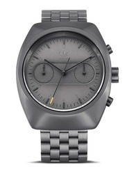 Adidas Analog Watch for Men with Stainless Steel Band, Water Resistant and Chronograph, Z18-632-00, Grey