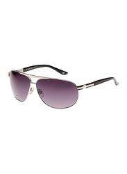 Maxima Full Rim Aviator Sunglasses for Men, Black Lens, MX0008-C3, 67/11/125