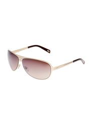 Maxima Polarized Full Rim Aviator Sunglasses for Men, Grey Lens, MX0002-C4, 66/13