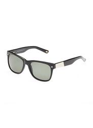 Maxima Polarized Full Rim Wayfarer Sunglasses Unisex, Green Lens, MX0017-C2, 53/18