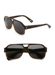 Lanvin Full Rim Pilot Sunglasses for Women, Grey Lens, SLN507-58-M33P, 58/13/140
