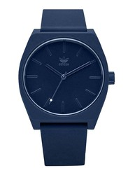 Adidas Process SP1 Analog Unisex Watch with Silicone Band, Water Resistant, Z10-2904-00, Dark Blue