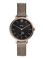 Fossil Limited Collection Kalya Analog Watch for Women with Stainless Steel Band, Water Resistant, ES4702, Black/Rose Gold-Black