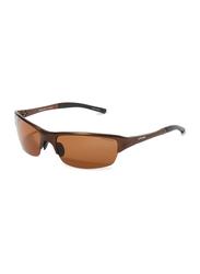 Oxygen Half Rim Sport Sunglasses for Men, Brown Lens, OX8995-C4, 65/17/125
