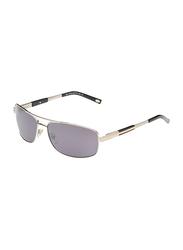 Maxima Polarized Full Rim Rectangular Sunglasses for Men, Gradient Black Lens, MX0010-C3, 63/15/125