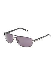 Maxima Polarized Full Rim Rectangular Sunglasses for Men, Gradient Black Lens, MX0010-C1, 63/15/125