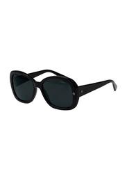 Lanvin Full Rim Butterfly Sunglasses for Women, Black Lens, SLN500-55-700, 55/18/140