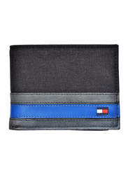 Tommy Hilfiger Exeter Leather Bi-Fold Wallet for Men, Black