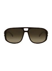 Lanvin Full Rim Rectangular Sunglasses for Unisex, Gradient Brown Lens, SLN502C-59-9WY, 59/16/140