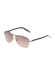 Maxima Full Rim Rectangular Sunglasses for Men, Brown Lens, MX0015-C2, 61/11/135