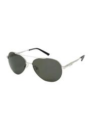 Gf Ferre Polarized Full Rim Aviator Sunglasses for Men, Grey Lens, SG GFF 980 02 00 58, 58/14/135