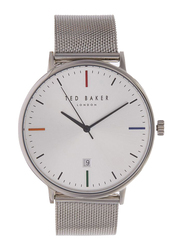Ted Baker Analog Watch for Men with Stainless Steel Band, Water Resistant, TE50311001, Silver