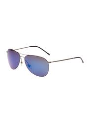Maxima Polarized Full Rim Aviator Sunglasses Unisex, Blue Lens, MX0003-C25, 59/15/145