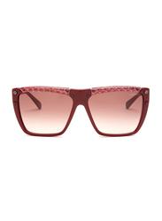 Lanvin Polarized Full Rim Rectangular Sunglasses for Unisex, Gradient Burgundy Lens, SLN501-59-9FH, 59/14/135