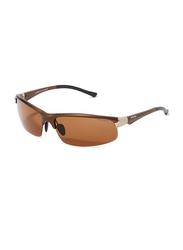 Oxygen Half Rim Sport Sunglasses for Men, Brown Lens, OX8994-C3, 67/16/125