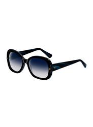 Lanvin Full Rim Butterfly Sunglasses for Women, Blue Lens, SLN500-55-J46, 55/18/140
