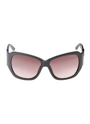 Gf Ferre Full Rim Square Sunglasses for Women, Pink Lens, GF971-03, 62/17/120