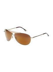 Maxima Full Rim Aviator Sunglasses for Men, Gold Lens, MX0007-C4, 67/11