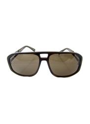 Lanvin Full Rim Rectangular Sunglasses for Unisex, Brown Lens, SLN502C-59-G62, 59/16/140