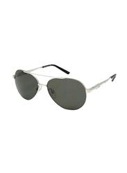 Gf Ferre Polarized Full Rim Aviator Sunglasses for Men, Grey Lens, GF980-06, 58/14/135