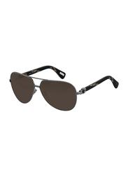Lanvin Full Rim Aviator Sunglasses for Unisex, Brown Lens, SLN022-62-K20, 62/11/135