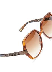 Lanvin Full Rim Butterfly Sunglasses for Women, Brown Lens, SLN549-57-ALE, 57/18/140