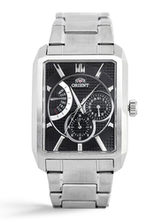 Orient Analog Watch for Men with Stainless Steel Band, Chronograph, SUUAC001B0, Silver-Black