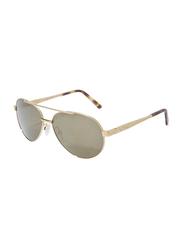 Gf Ferre Full Rim Aviator Sunglasses Unisex, Brown Lens, GF980-05, 51/11/140