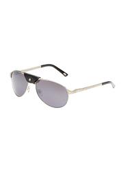 Maxima Full Rim Aviator Sunglasses for Men, Gradient Black Lens, MX0013-C3, 58/16